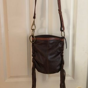 Lucky Brand brown leather crossbody purse